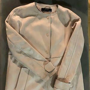 Zara pink suede mid length jacket